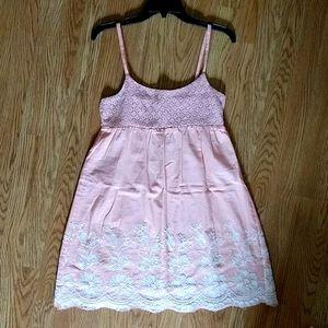 Peachy pink babydoll dress